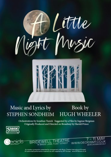 A Little Night Music poster for Geoids Musical Theatre