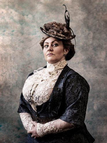 Trudi Camilleri as Anna Edson Taylor - publicity photography for Queen of the Mist by Michael John LaChiusa for Pint Of Wine Theatre Company's 2019 production