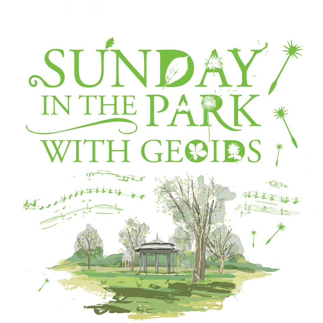 Sunday in the Park with Geoids hand drawn design and typography